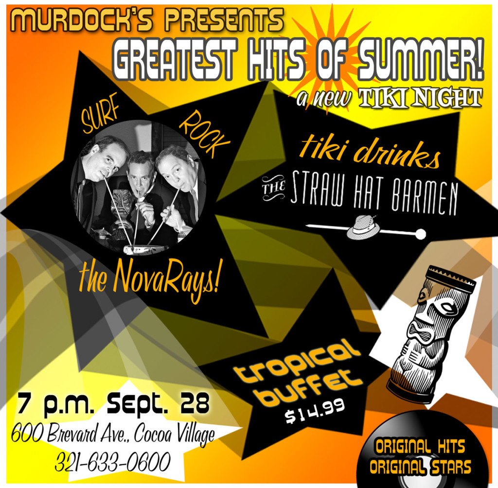 """The theme for this night of tiki cocktails and surf music is """"Greatest Hits of Summer."""""""